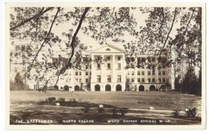 RPPC Greenbrier Sulphur Springs WV North Facade Real Photo