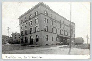 Fort Dodge Iowa~Fort Dodge Grocery Co~Importers~Wholesale~Loading Dock~1907 B&W