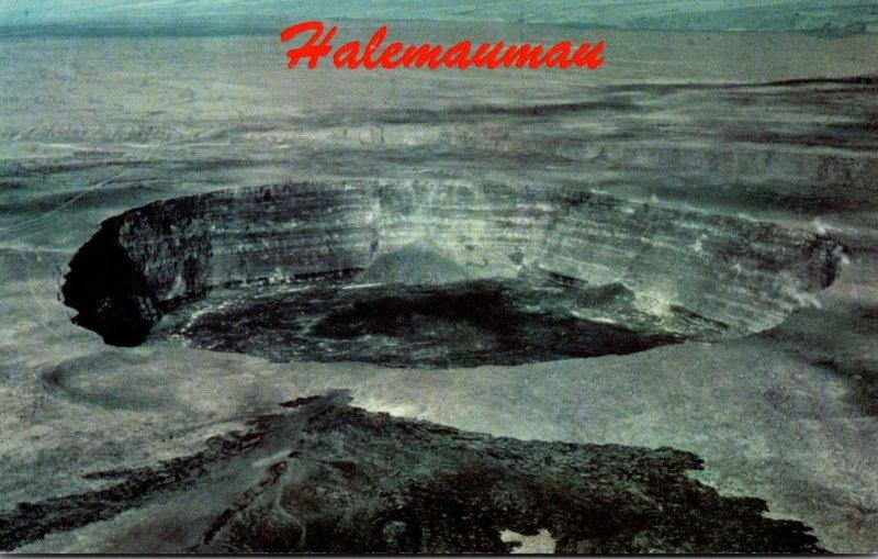 Hawaii Aerial View Halemaumau Crater