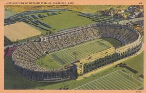 CAMBRIDGE , Massachusetts , 30-40s ; Airplane View of Harvard Stadium