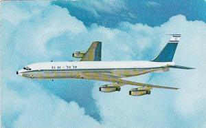 ELAL Israel Airlines Boeing 707 in flight, 40-60s