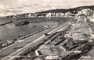 Vintage Mallorca Majorca Spain RP Postcard, Palma, Maritimo, Seafront X20