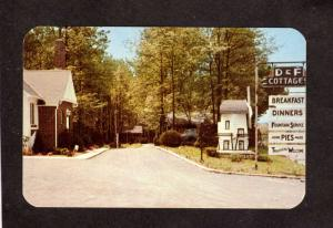 MD D and & F Cottages Cabins Fallston Maryland Postcard nr Bel Air Baltimore