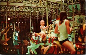Merry Go Round Carousel, Knoebels Groves Amusement Resort, Pennsylvania Postcard