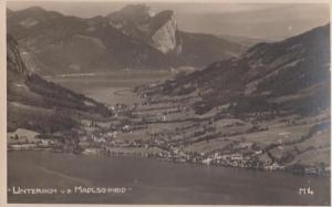 Austrian Unterach Madleschneid Aerial Birds Eye Photo Postcard