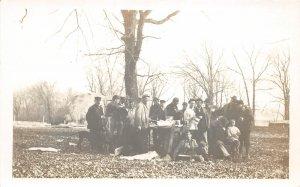 F80/ New Ulm Minnesota RPPC Postcard 1912 Rabbit Hunting Hunt 2