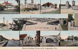Florida Eleven Leading Views Of St Augustine 1914 Curteich