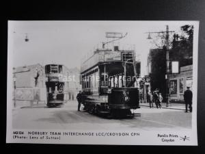 London Tram NORBURY TRAM INTERCHANGE LCC / CROYDON Pamlin Print Postcard M3134