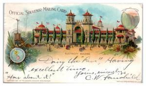 1901 Electricity Building, Pan-American Exposition Buffalo, NY Postcard
