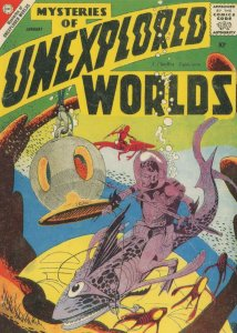 Mysteries Of Unexplored Worlds 1950s Comic Book Monster Fish Postcard
