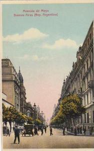 Argentina Buenos Aires Avenida De Mayo Street Scene