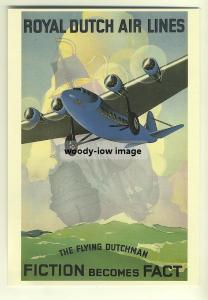 ad2737a  -  KLM,  Royal Dutch Airlines   -  modern poster advert postcard