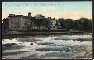 New York NIAGARA FALLS Cataract House from Green Island - pm 1913 - Divided Back