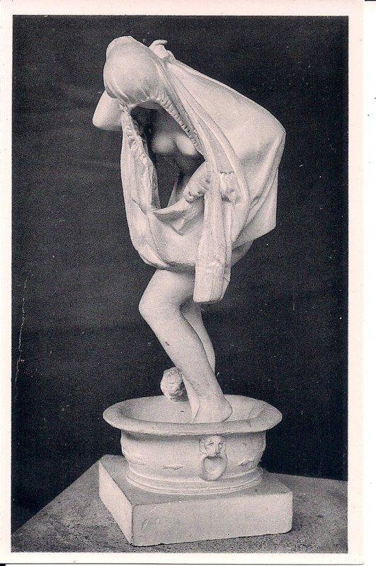 Beautiful Woman Bathing, Sculpture, Art, Brussels, ca. 1930, Museum Nude