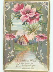 Divided-Back BEAUTIFUL FLOWERS SCENE Great Postcard AA3227