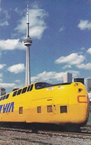 CN's Turbo train in new VIA Colors , Canada , PU-1986