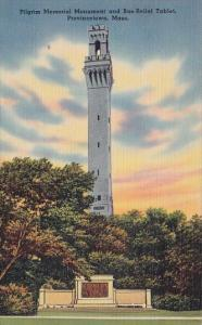 Pilgrim Memorial And Bas Relief Tablet Provincetown Massachusetts 1941