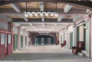 Minnesota St Paul Auditorium Showing Lobby 1910