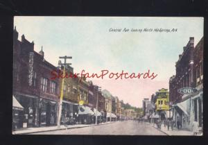 HOT SPRINGS ARKANSAS DOWNTOWN STREET SCENE POOL HALL VINTAGE POSTCARD