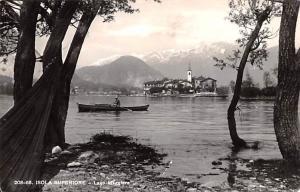 Italy Old Vintage Antique Post Card Isola Superiore Lago Maggiore 1960