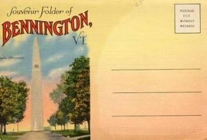 Folder - Bennington , Vermont