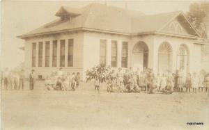 C-1910 School House Children Group Photo RPPC Real photo postcard 11013