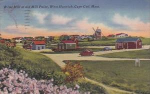 Wind Mill At Old Mill Point West Harwich Cape Cod Massachusetts 1961