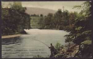 Fishing Stream,Cowichan River,Vancouver,BC,Canada Postcard