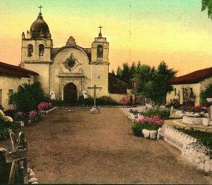 Carmel par The Mer Ca Mission San Carlos Borromeo 1910s Vtg Carte Postale Unp