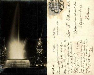 indonesia, JAVA BATAVIA, Pasar Gambir Koningsplein, Illuminated Fountain (1930)
