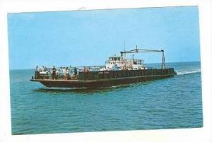 Outer Banks, North Carolina, Hatteras Inlet Ferry boat, 50-60s
