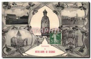 Old Postcard Souvenir From Notre Dame De Ceignac