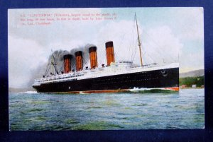 SS Lusitania - Largest Vessel in the World - Ocean Liner