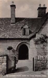 BROADWAY WORCESTERSHIRE ENGLAND~ENTRANCE PRIORS MANSE TEA HOUSE~PHOTO POSTCARD