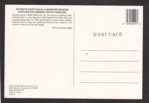 SC Navy Naval Ship Charleston South Carolina Postcard Yorktown CV-10 Patriots