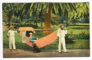 Madeira, Portugal, 00-10s  Men carrying woman in Hammock