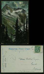 Mount Sir Donald Glacier BC moonlight Calgary Duplex 1907