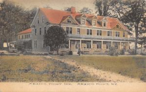 Mexico Point New York~Albertype Handcolored~Path to Inn~Triangle Dormers~c1910