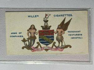 CIGARETTE CARD - WILLS COMPANY ARMS #34 MERCHANT VENTURERS BRISTOL    (UU240)