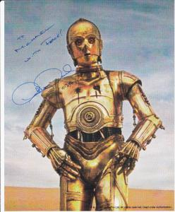 STAR WARS Movie ; Autographed Photo : C 3PO , Anthony Daniels