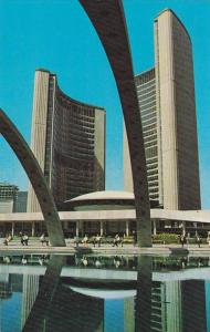 New City Hall Viewed From Across The Arched Reflecting Pool, Toronto, Ontario...