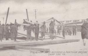 Engineers building a pontoon bridge, Camp Lee, Petersburg, Virginia, 00-10s