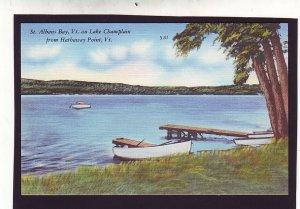 P1666 vintage unused st albans bay lake champlain hathaway pt. vermont
