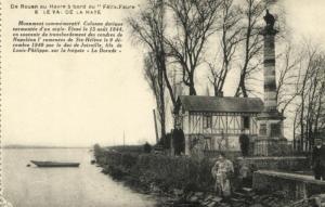 CPA  De Rouen au Havre á bord du Félix-Faure  - Le val de la Haye  (201347)
