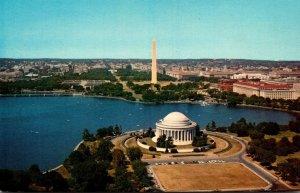 Washington D C Aerial View Showing Jefferson Memorial and Washington Monument