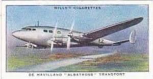 Wills Vintage Cigarette Card Speed No 1 De Havilland Albatross Transport  1938