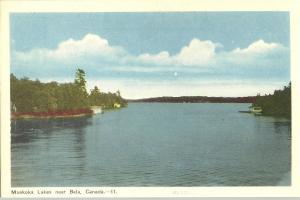 MUSKOKA LAKES NEAR BALA CANADA WATERS EDGE Postcard