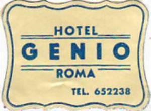 ITALY ROMA HOTEL GENIO VINTAGE HOTEL LABEL