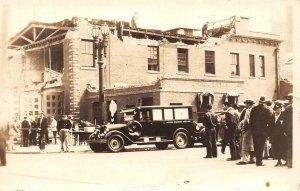 RPPC LONG BEACH, CA Earthquake 1933 Altadena Ambulance Vintage Postcard