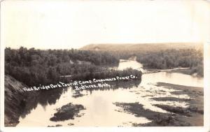 Brethren Michigan~Red River Park Tourist Camp~Consumers Power Co~1930s RPPC